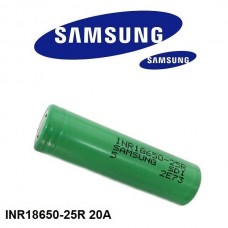 Samsung 25R 18650, 2500mAh High Drain Flat Unprotected Battery