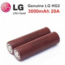 LG HG2 18650 3000mAh 20A INR High Drain Flat Unprotected Battery